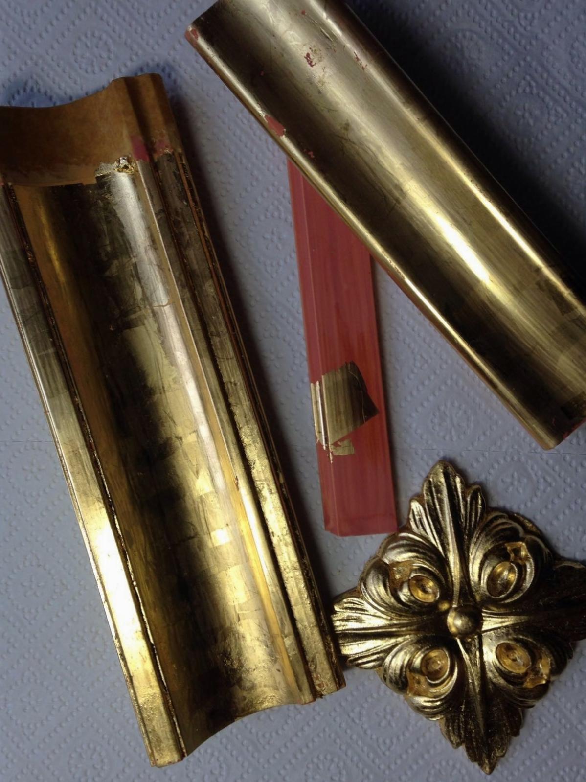 Polimentvergoldung Blattgold-Weißgold 23,75 Karat