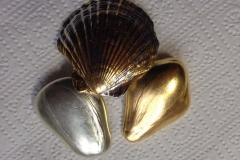 Polimentvergoldung - Schmuck und Steine